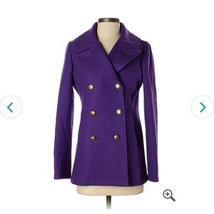 Jcrew 0 purple coat